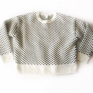H & M Men's White & Black Patterned Sweater